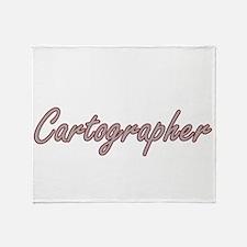 Cartographer Artistic Job Design Throw Blanket