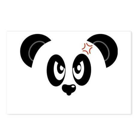 Angry And Annoyed Panda Postcards (Package of 8)