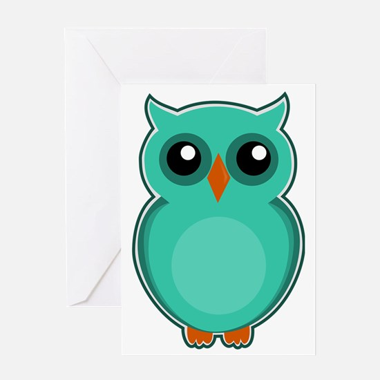 Cute Owl baby shower Greeting Card