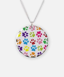 Cute Pets Necklace Circle Charm