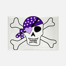 Unique Pirate girl Rectangle Magnet
