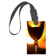 Cute Red wine Luggage Tag