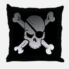 Cute Skull crossbones Throw Pillow