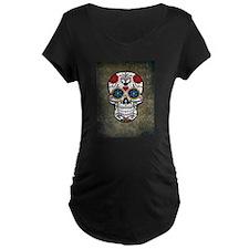 Sugar Skull (color) Maternity T-Shirt
