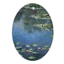 Waterlilies by Claude Monet Ornament (Oval)