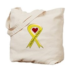 I Am Proud Of My Daughter Yellow Ribbon Tote Bag