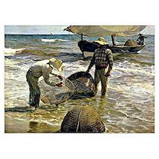 Sorolla - Valencian Fishermen Poster