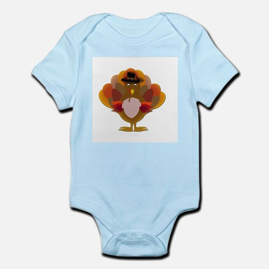Cute Thanksgiving Turkey Body Suit