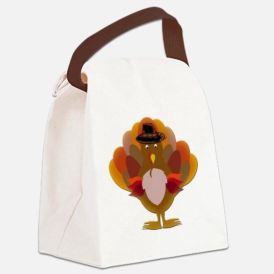 Cute Thanksgiving Turkey Canvas Lunch Bag