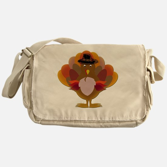 Cute Thanksgiving Turkey Messenger Bag