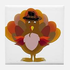 Cute Thanksgiving Turkey Tile Coaster