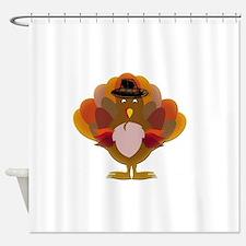Cute Thanksgiving Turkey Shower Curtain