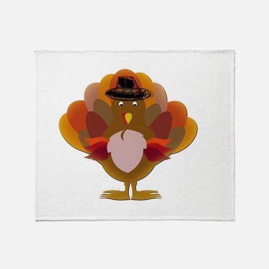 Cute Thanksgiving Turkey Throw Blanket