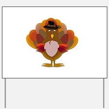 Cute Thanksgiving Turkey Yard Sign