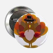 "Cute Thanksgiving Turkey 2.25"" Button"
