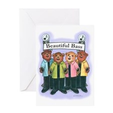 Bass, Female - Harmony Greeting Card
