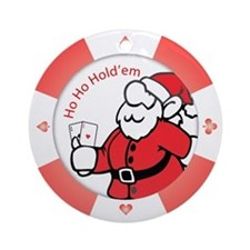 """Ho Ho Holdem"" Poker Chip Ornament"