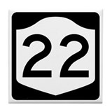 State route 22 Tile Coasters