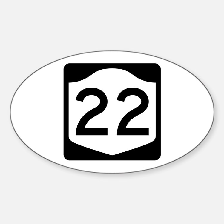 State Route 22, New York Sticker (Oval)