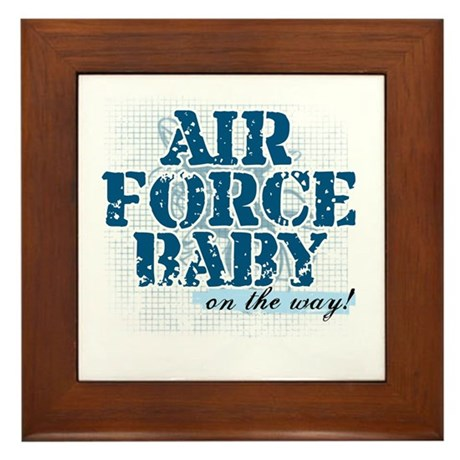 Air Force Baby On the Way Framed Tile
