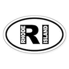 Rhode Island Oval Bumper Stickers
