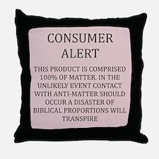 anti-matter physics Throw Pillow