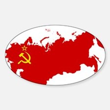 Red USSR Soviet Union map Communist Countr Decal