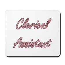 Clerical Assistant Artistic Job Design Mousepad