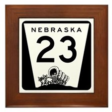 Highway 23, Nebraska Framed Tile