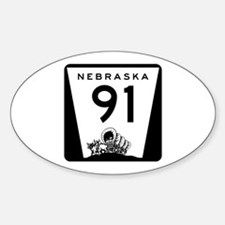 Highway 91, Nebraska Sticker (Oval)