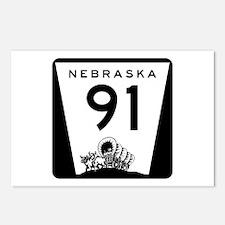 Highway 91, Nebraska Postcards (Package of 8)