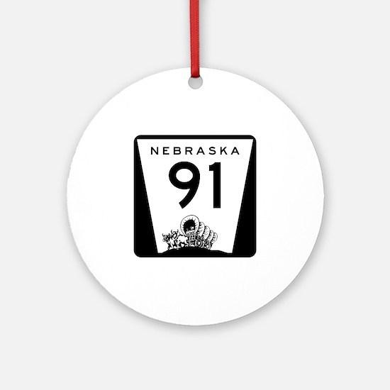 Highway 91, Nebraska Ornament (Round)