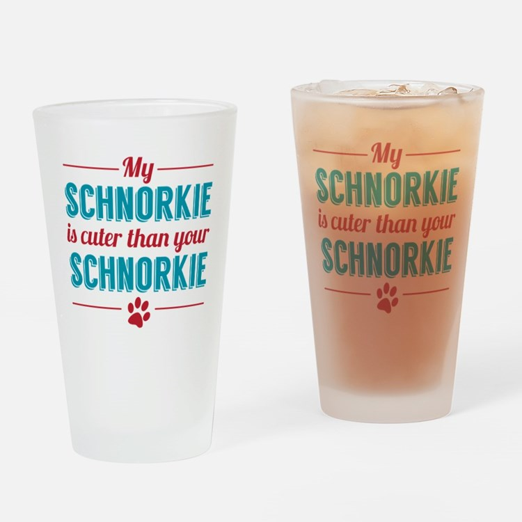 Cuter Schnorkie Drinking Glass