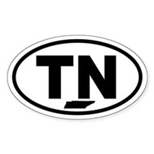 Tennessee Map Oval Decal