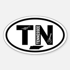Tennessee Music and Map Oval Decal