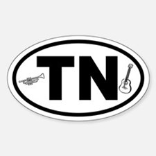 Tennessee Music Oval Decal