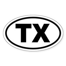 Basic Texas Oval Decal