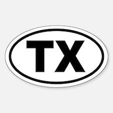Basic Texas Oval Decal