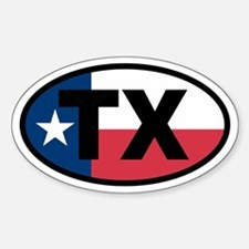 Texas Flag Oval Decal