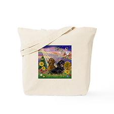 Autumn Angel & Dachshund Pair Tote Bag