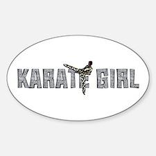 Karate Girl Sticker (oval)