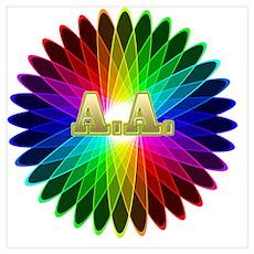 A.A. Symbols Poster