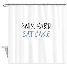 SWIM HARD Shower Curtain