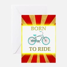 Born to Ride Circus Bike Greeting Cards
