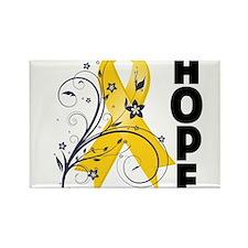 Childhood Cancer Floral Hope Ribbon.png Magnets