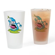 Funny Monster Halloween Drinking Glass