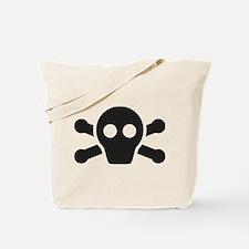 Simple Black Skull and Crossbones Tote Bag
