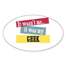 Geek Oval Decal