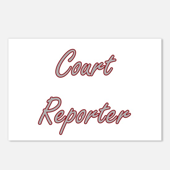 Court Reporter Artistic J Postcards (Package of 8)