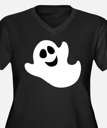 Cute Happy Halloween Ghost Plus Size T-Shirt